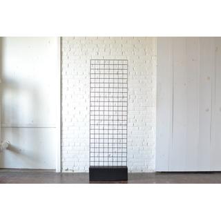 Freestanding black wood metal Modern Grid