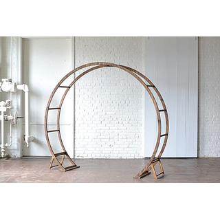round wooden arbor