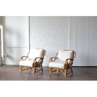 bamboo chairs neutral upholstery fabric