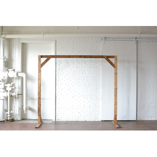large wooden truss