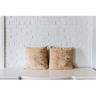 Pair of Gold and Neutral PIllows