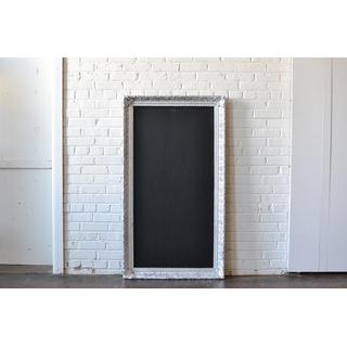 large silver frame chalkbaord