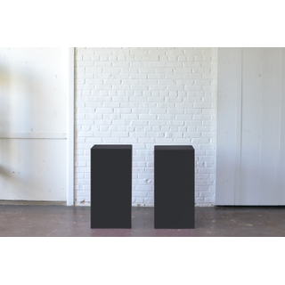 Pair Black Pedestals