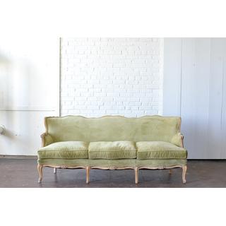 elegant light green upholstered sofa