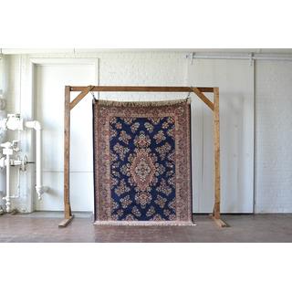 navy blue copper floral rug