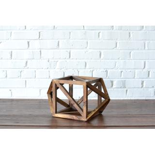 wooden geometric prism