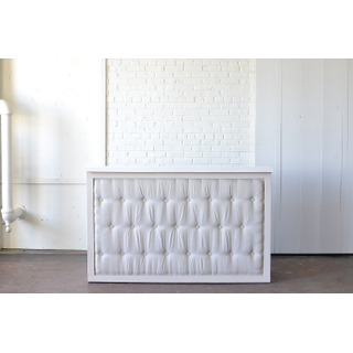 white Tufted Bar with White Top