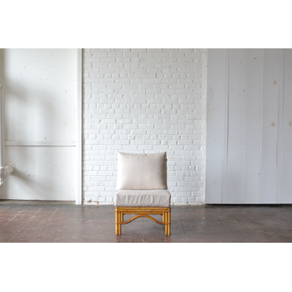 light bamboo chair neutral upholstery fabric