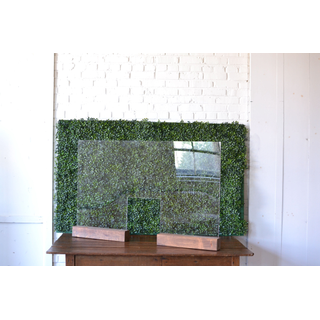 plexiglass bar shiled with pass through and wooden base