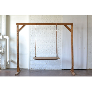 Small Hanging Farm Table rope Wooden Truss