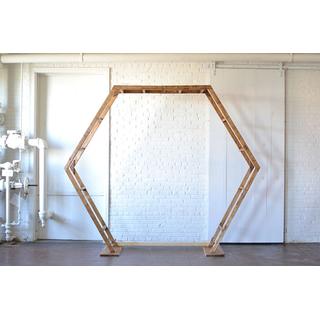 Double Hexagon wooden Arbor