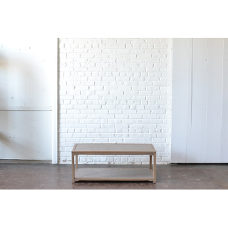 honey gray wooden coffee table