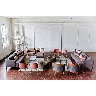 pink gray modern lounge seating set