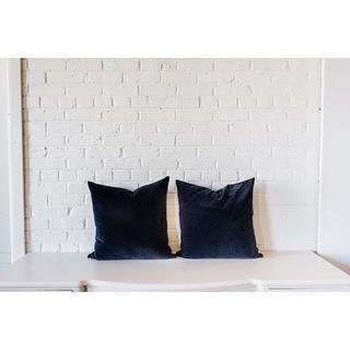 Pair of Blue Velvet Square PIllows