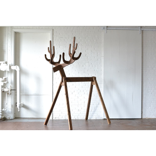 giant wooden reindeer
