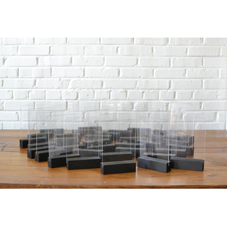Collection of Black Tabletop Acrylic Signage
