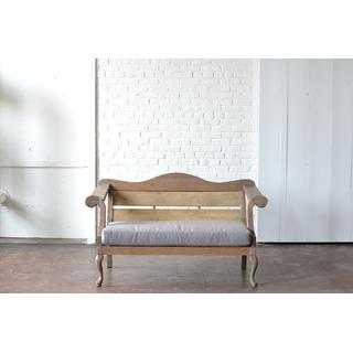 honey gray wooden loveseat upholstered contemporary