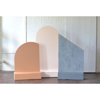 three simple pastel freestanding panels backdrops