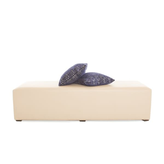 natural leather bench