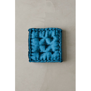 square royal blue floor seat