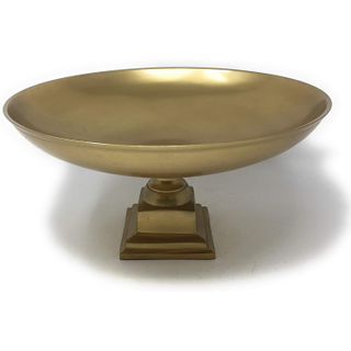 gold pedestal bowl for event wedding rental decor