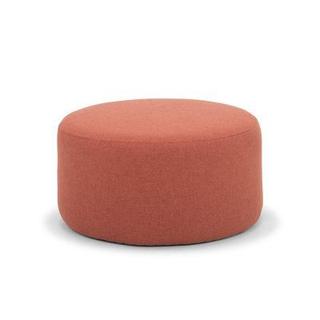 circular salmon pouf