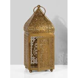 12 inch Gold Alhambra Lantern for event rental decor