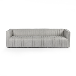 grey sofa with dramactic channeling