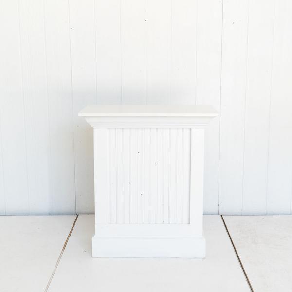 White Podium With Beadboard