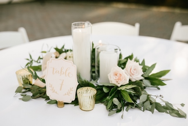 Blush & Gold Table Numbers