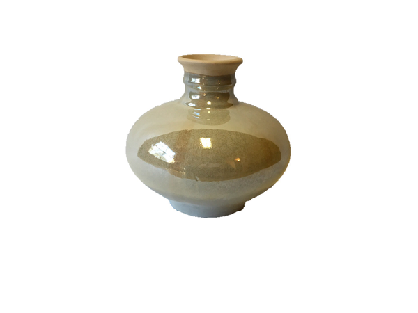 Glossy Taupe Vase