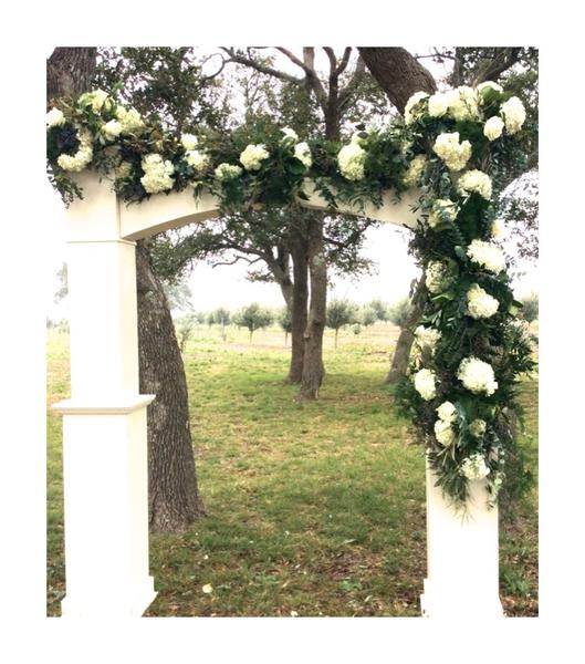 White Wooden Arch