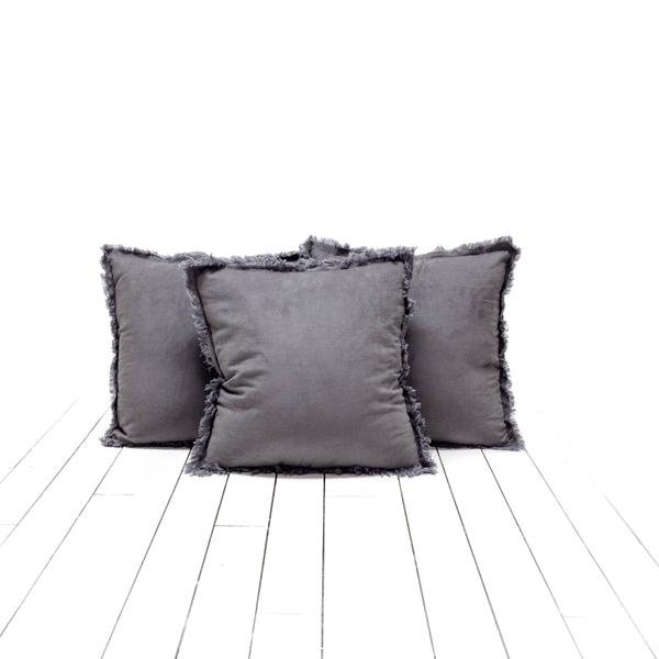 Gray Corduroy Pillows