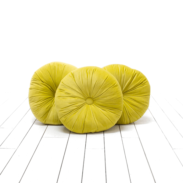 Chartreuse Round Pillows
