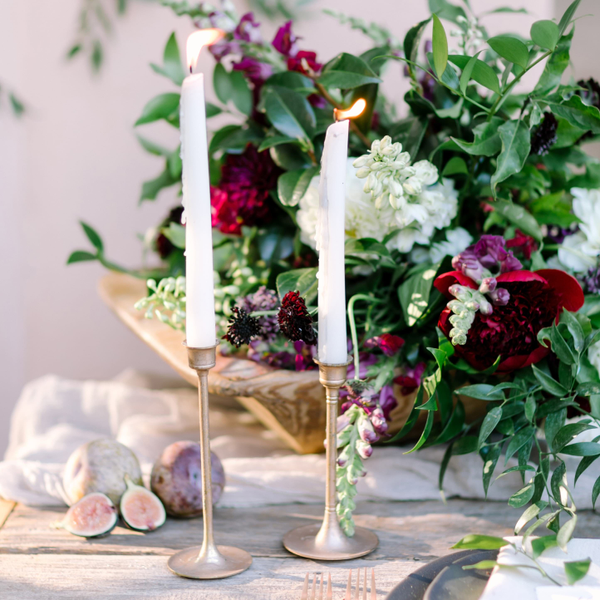 Assorted Rose Gold Candlesticks