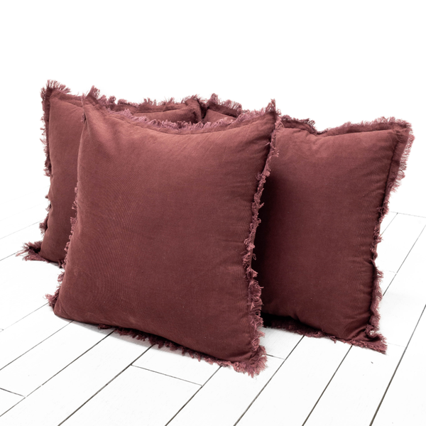 Plum Corduroy Pillows