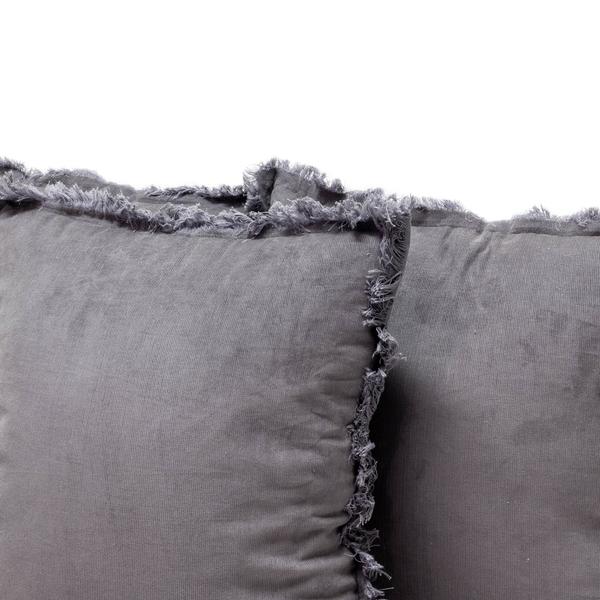 Gray Corduroy Pillows