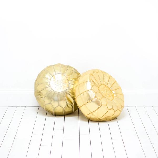 Gold Moroccan Poufs