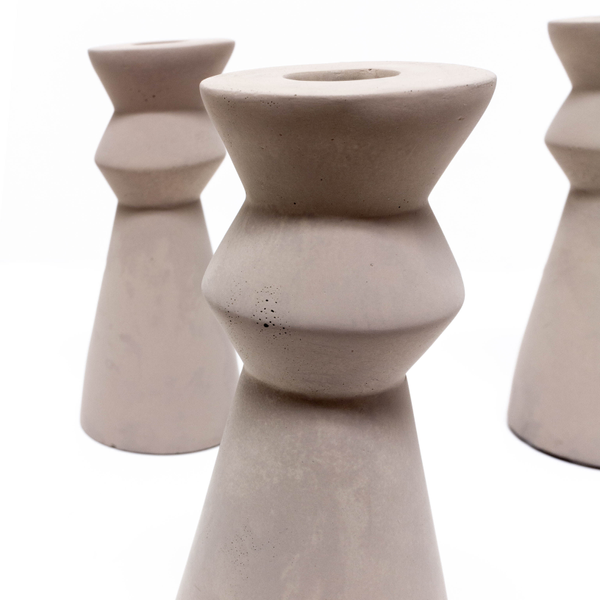 Cement Candle Holders - Small