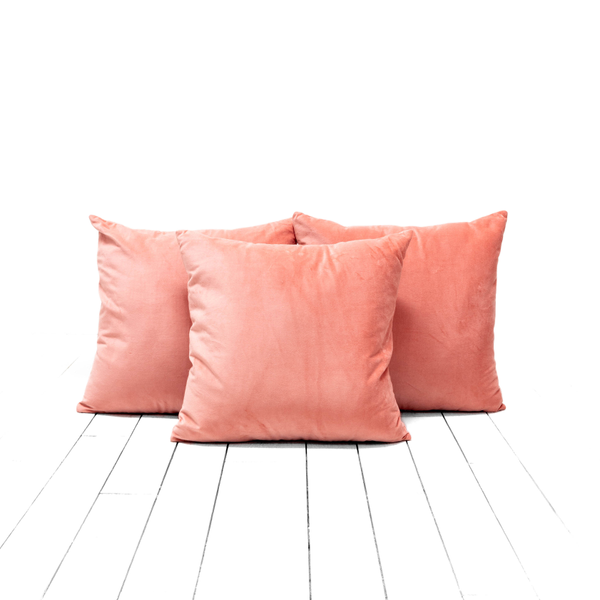 Salmon Velvet Pillows