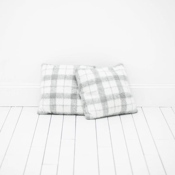 Gray Plaid Pillows