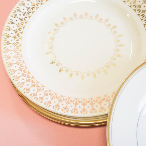 Gold Dessert Plates