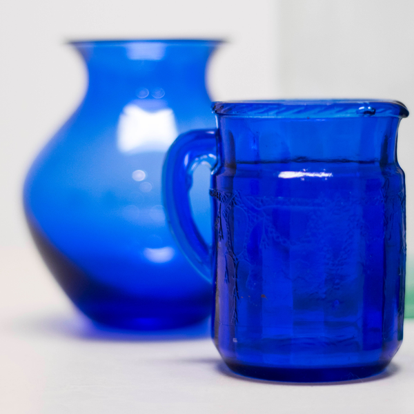 Assorted Blue Glass