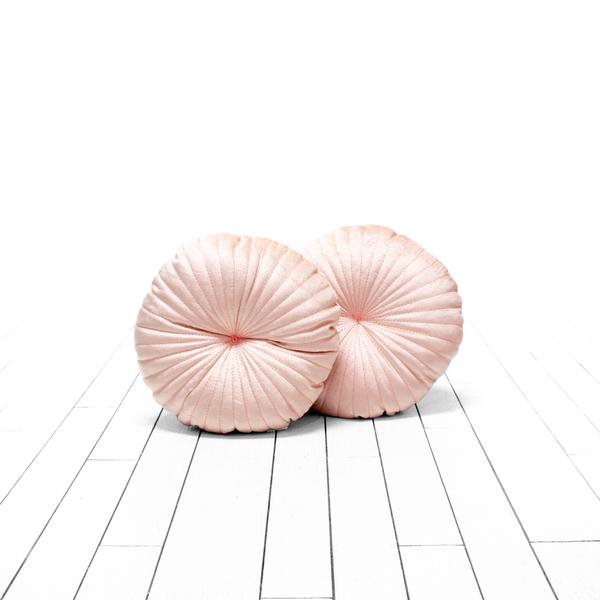 Blush Round Pillows
