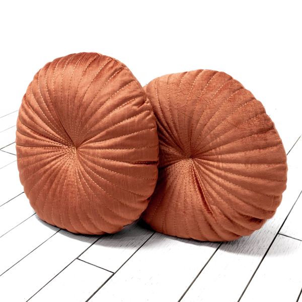 Apricot Round Pillows