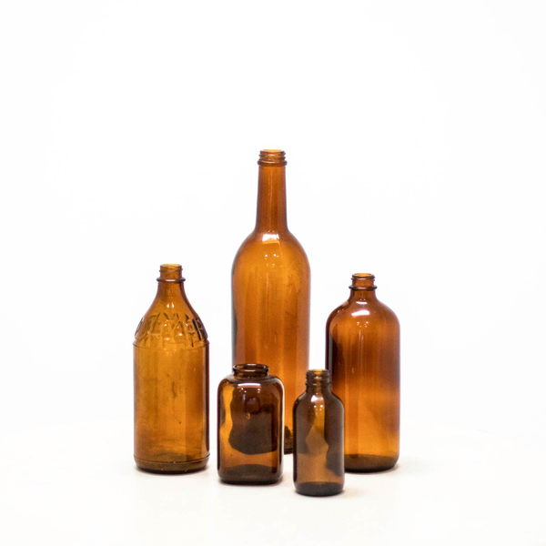 Assorted Amber Glass