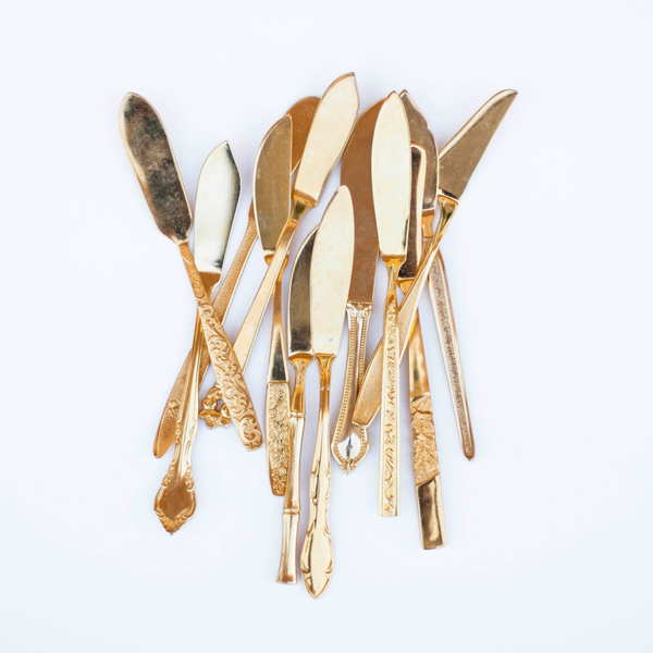 Assorted Gold Cheese Knives