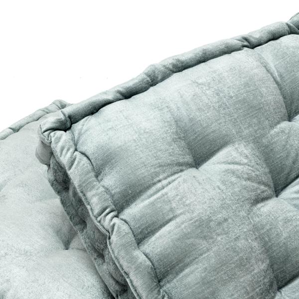 Hailey Floor Cushions - Pale Blue
