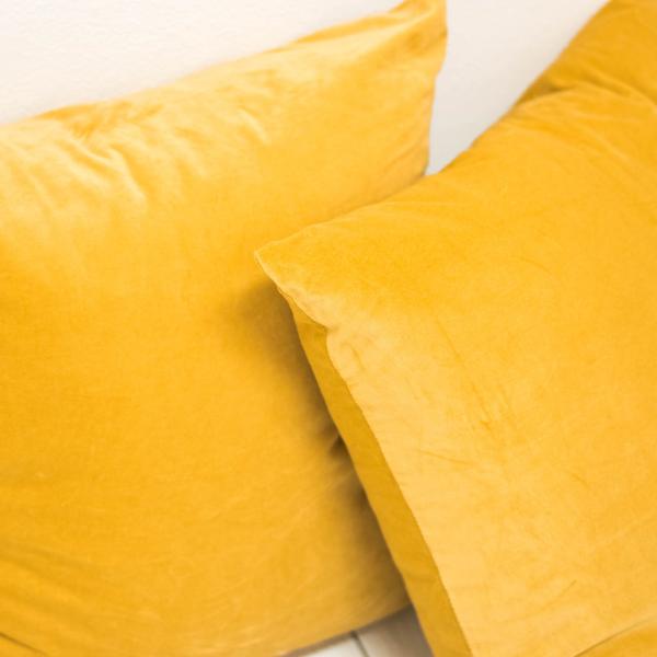 Mustard Velvet Pillows