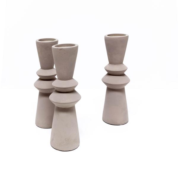Cement Candle Holders - Medium